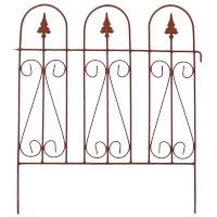 Beetzaun Gartenzaun Rankhilfe GERRY Eisen Rost Deko H: 65 cm x L: 55 cm