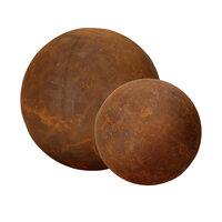 Gartendeko Kugeln groß und klein voll Metall Rost Deko Gartenkugeln 20cm + 30cm