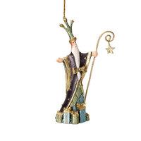 Christbaumschmuck Figur Weihnachtsmann Geschenke blau Baumschmuck 14cm