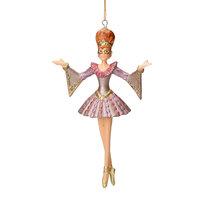 Christbaumschmuck Figur Tänzerin Ballerina Kolombine Baumschmuck rosa 15cm