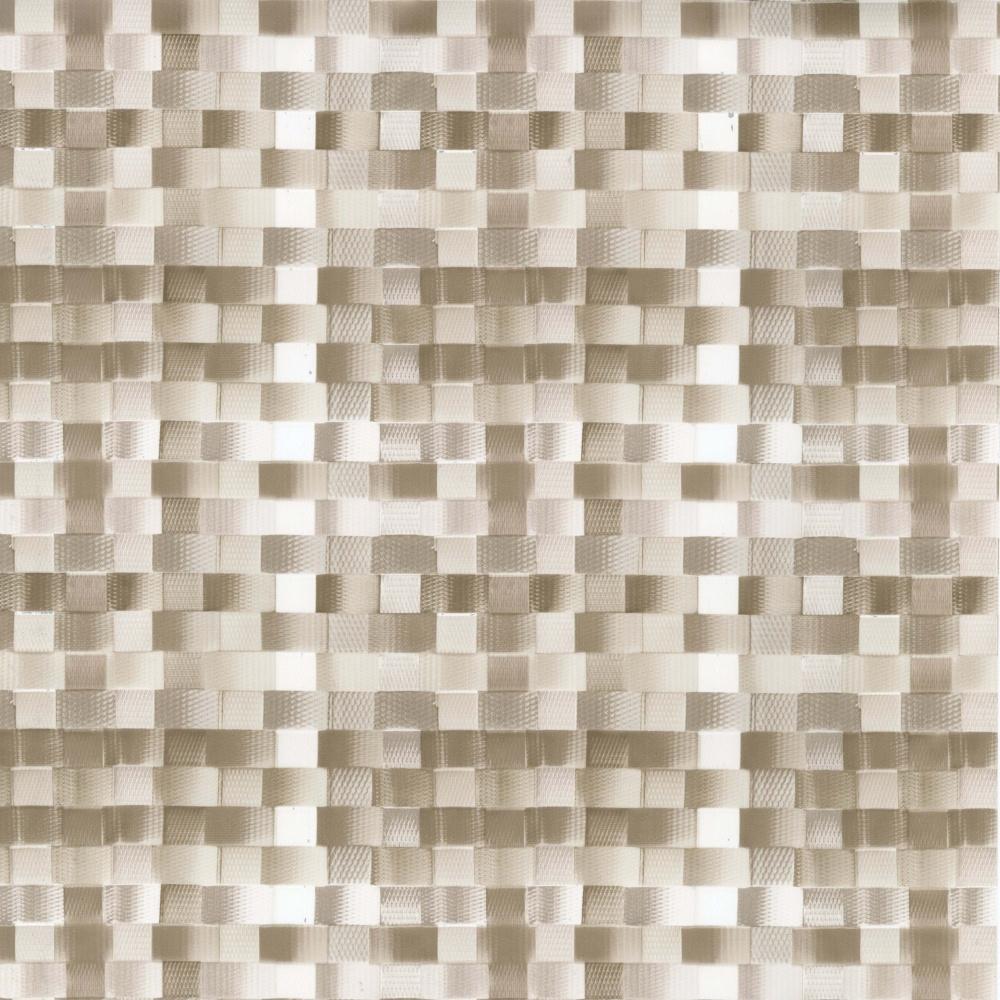 Wachstuchtischdecke Basket weave nickel Leinen-Struktur 1,4m Br. Meterware