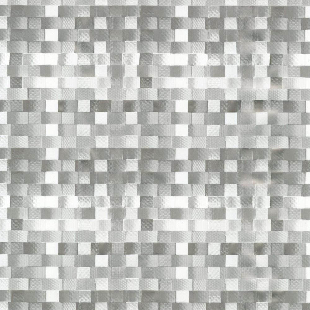 Wachstuchischdecke Basket weave silber Leinen-Struktur 1,4m Br. Meterware