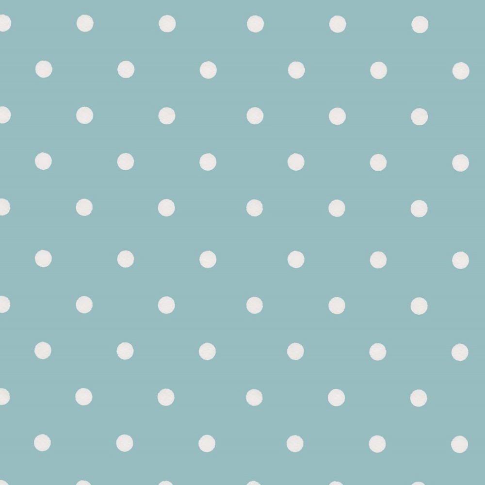 Wachstuchtischdecke Dots vintage blau 1,4m Br. Wachstuch Punkte Meterware