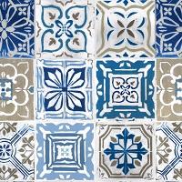"""Wachstuch Tischdecke """"Artistic tiles"""" in 1,4m Breite Meterware"""