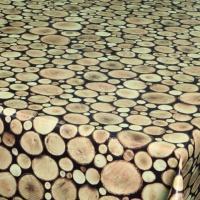 """Wachstuch Tischdecke """"Logs"""" in 1,4m Breite Meterware"""