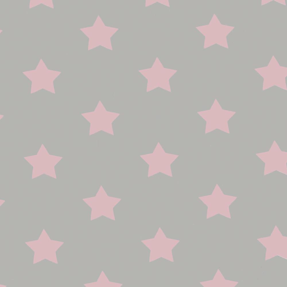 """Wachstuchtischdecke """"Stern pink"""" 1,4m Br. rosa hellgrau Wachstuch Meterware"""