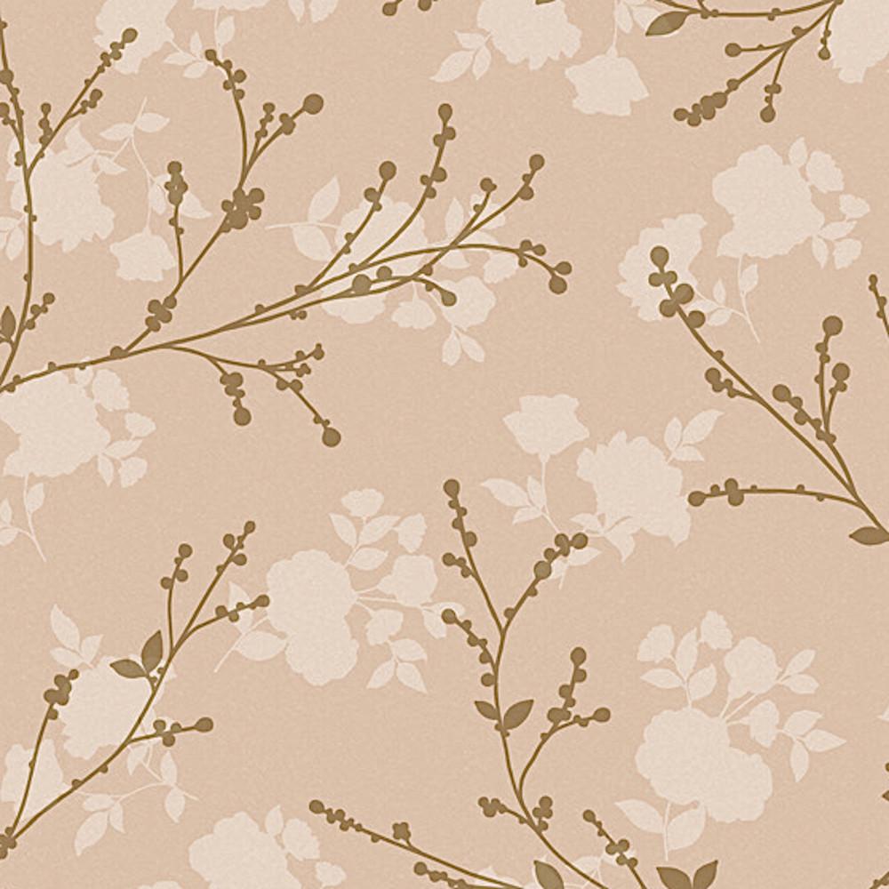Wachstuchtischdecke Autumn beige Zweige Blätter braun 1,4m Br. Meterware