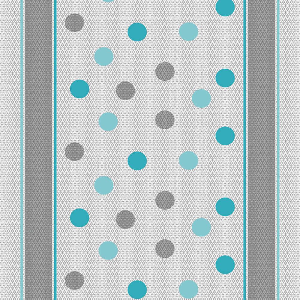 Wachstuchtischdecke Dots blau grau Punkte Polka Wachstuch 1,4m Br. Meterware