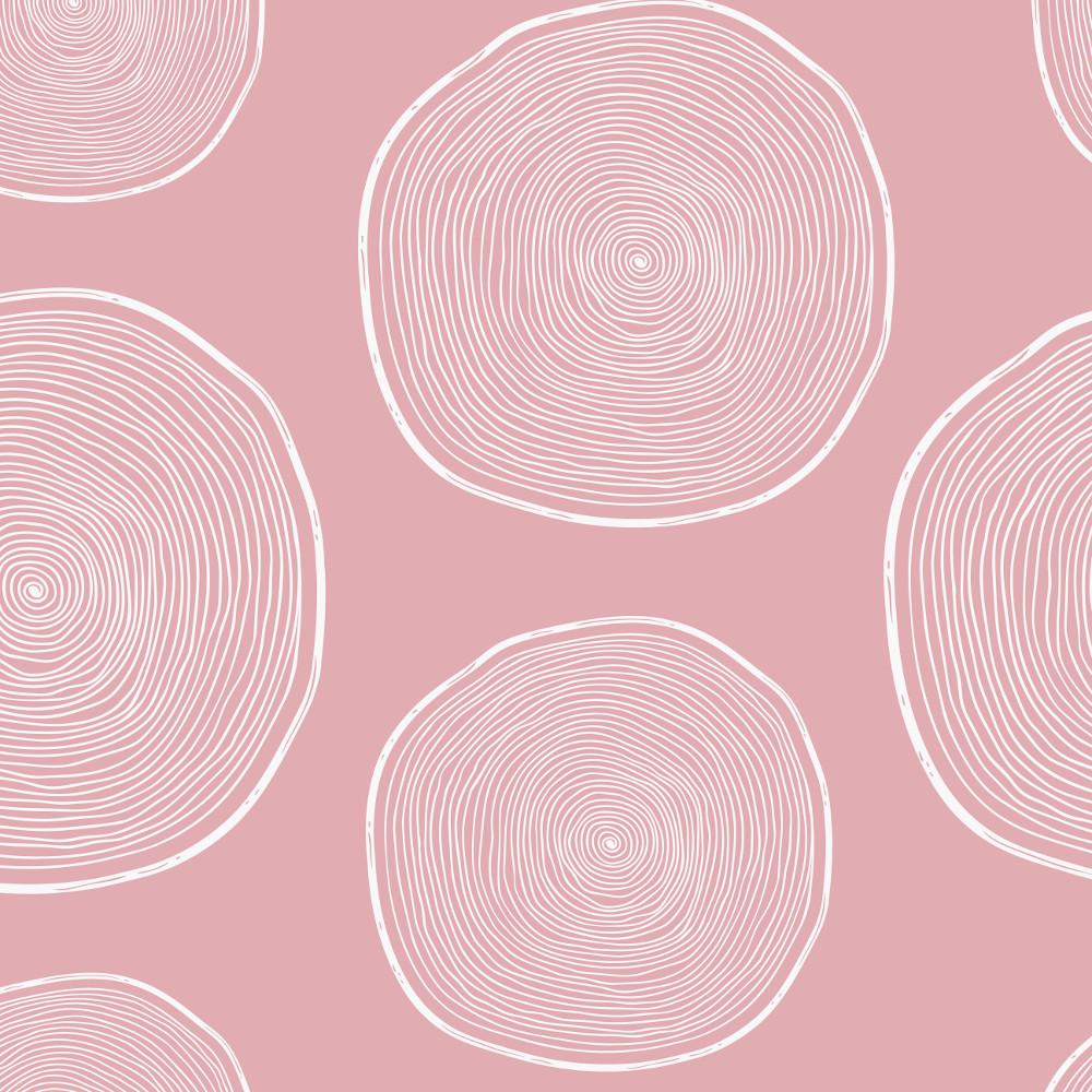 Wachstuchtischdecke Oslo 1,4m Br. Wachstuch rosa weiße Kreise Punkte Meterware