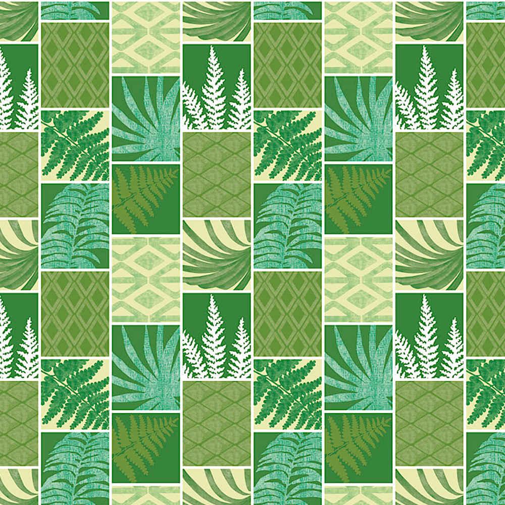 Wachstuchtischdecke Palms Grün Palme Blätter Pflanzen Farn 1,4m Br. Meterware