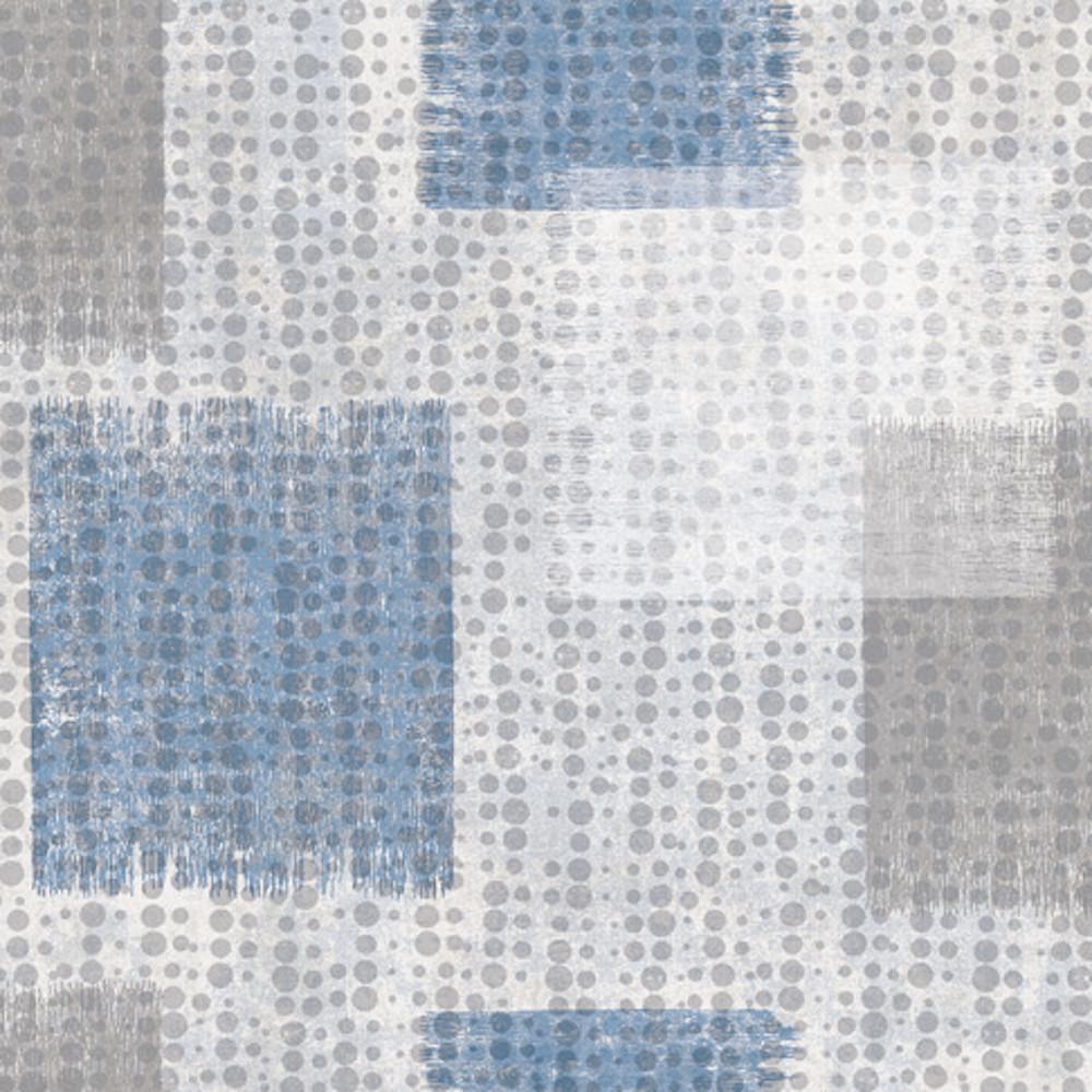 Wachstuchtischdecke Squares Cubes Blau Grau Weiss Wachstuch 1 4m Br