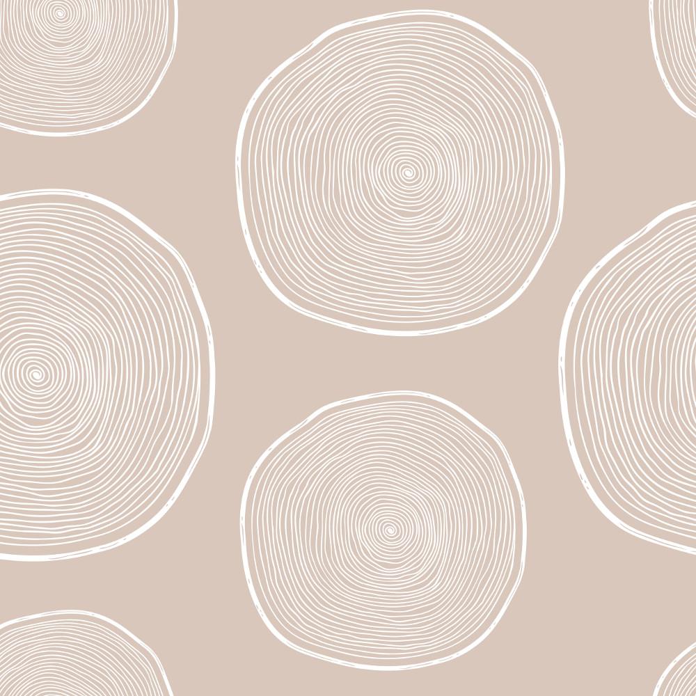 Wachstuchtischdecke Stockholm 1,4m Br. Wachstuch beige Kreise Punkte Meterware