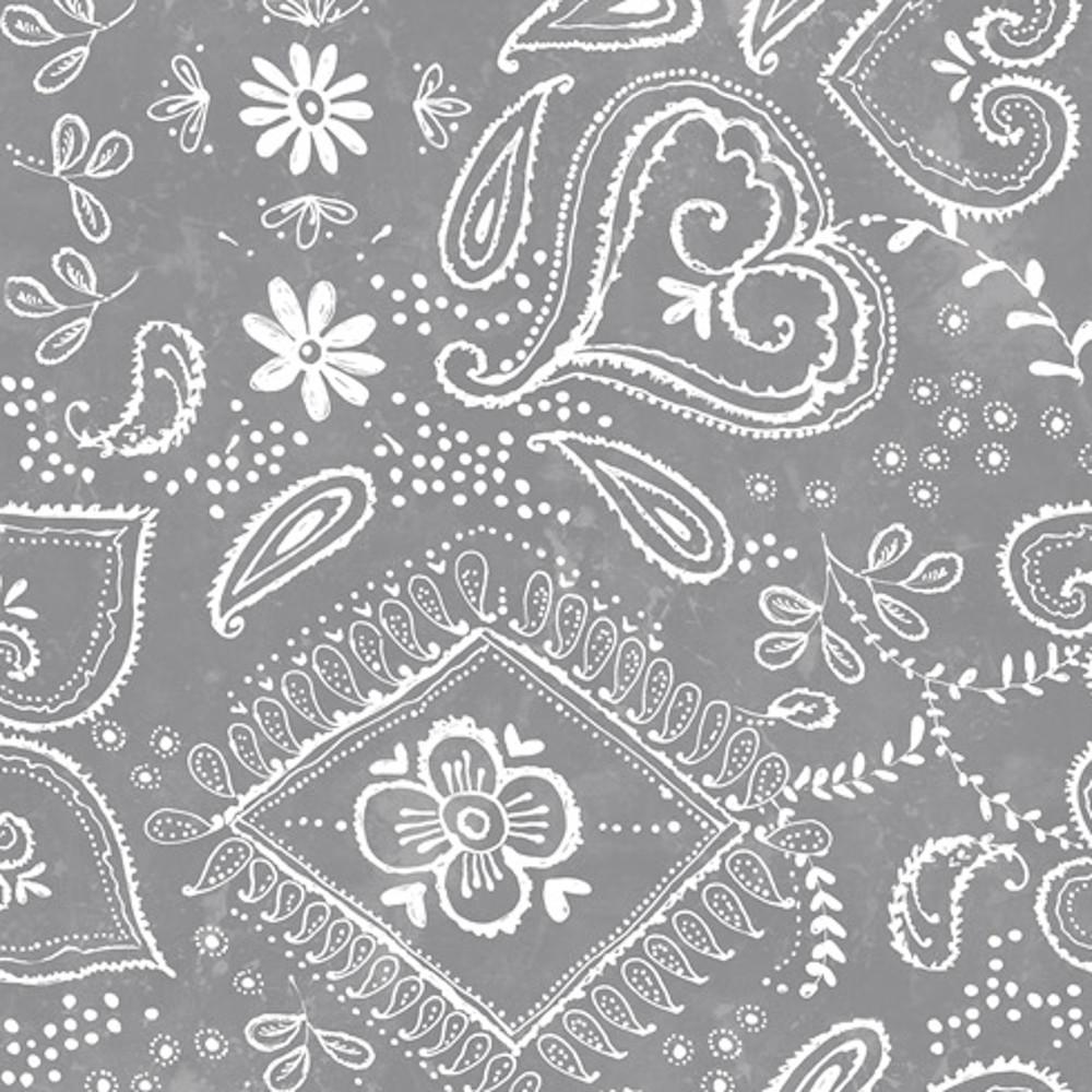 Wachstuchtischdecke Tafel Grau weiß Blumen Herzen 1,4m Br. Meterware