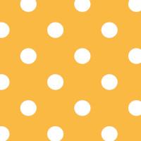 Wachstuchtischdecke Dots yellow Punkte weiß gelb Polka 1,4m Br. Meterware