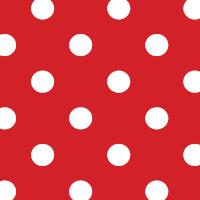 Wachstuchtischdecke Dots red Punkte weiß rot Wachstuch Polka 1,4m Br. Meterware