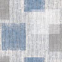 Wachstuchtischdecke Squares Cubes blau grau weiß Wachstuch 1,4m Br. Meterware