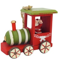 Christbaumschmuck Zug Holz Holzzug Lok Anhänger Deko Hänger 8,5cm