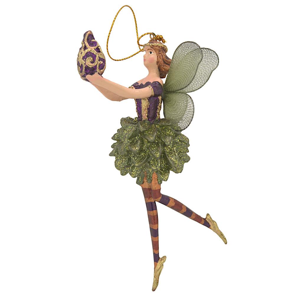 Christbaumschmuck Figur Blumenelfe mit Krug Elfe Baumschmuck 15cm