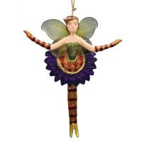 Christbaumschmuck Figur Blumenelfe Ballerina Elfe Baumschmuck 15cm