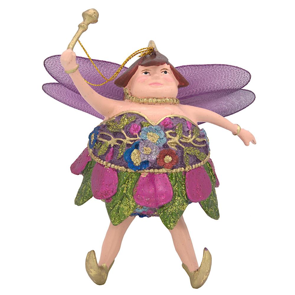 "Christbaumschmuck Figur ""Dicke Elfe"" Fee pink-grün Hänger 15cm"