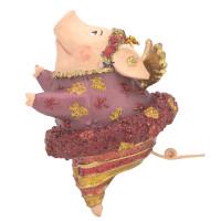 """Christbaumschmuck Figur """"Schwein mit Flügeln"""" Hänger kupfer Hänger 10cm"""