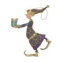 Christbaumschmuck Figur Gabenträger Hänger Baumschmuck violett 13 cm