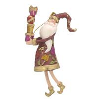 Christbaumschmuck Figur Weihnachtsmann Gabenträger Hänger rot-grün-gold 14 cm