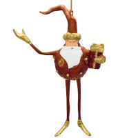 Christbaumschmuck Figur Weihnachtsmann Hänger Baumschmuck kupfer 18 cm