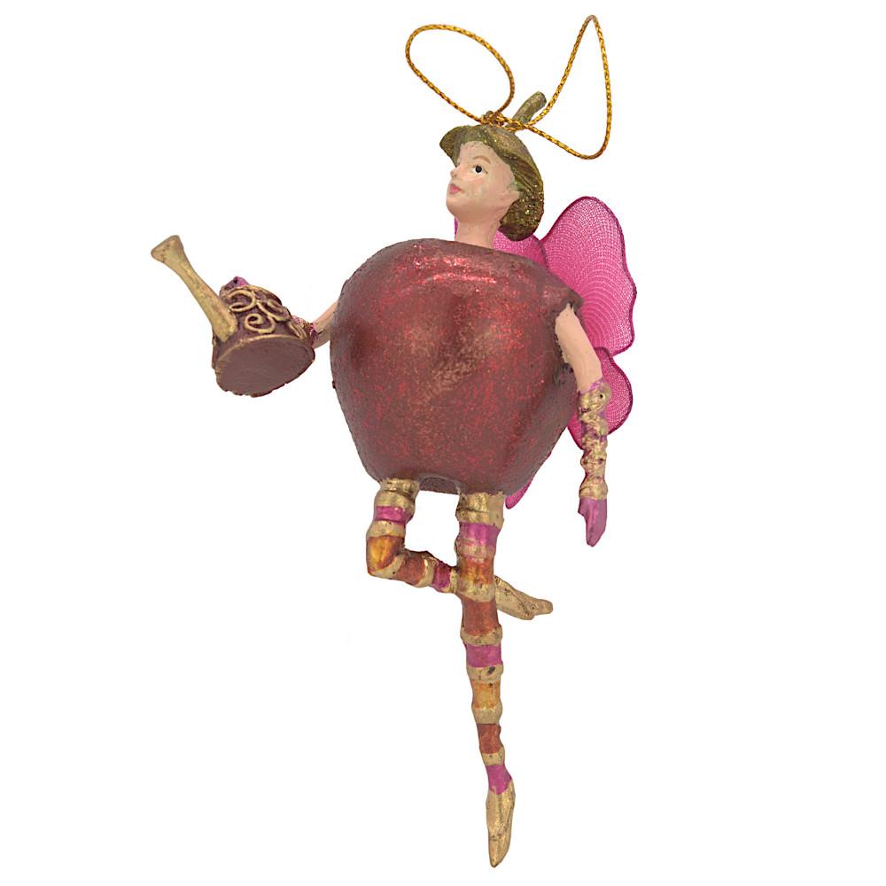 Christbaumschmuck Figur Obstelfe Apfel Elfe Anhänger Baumschmuck 15cm