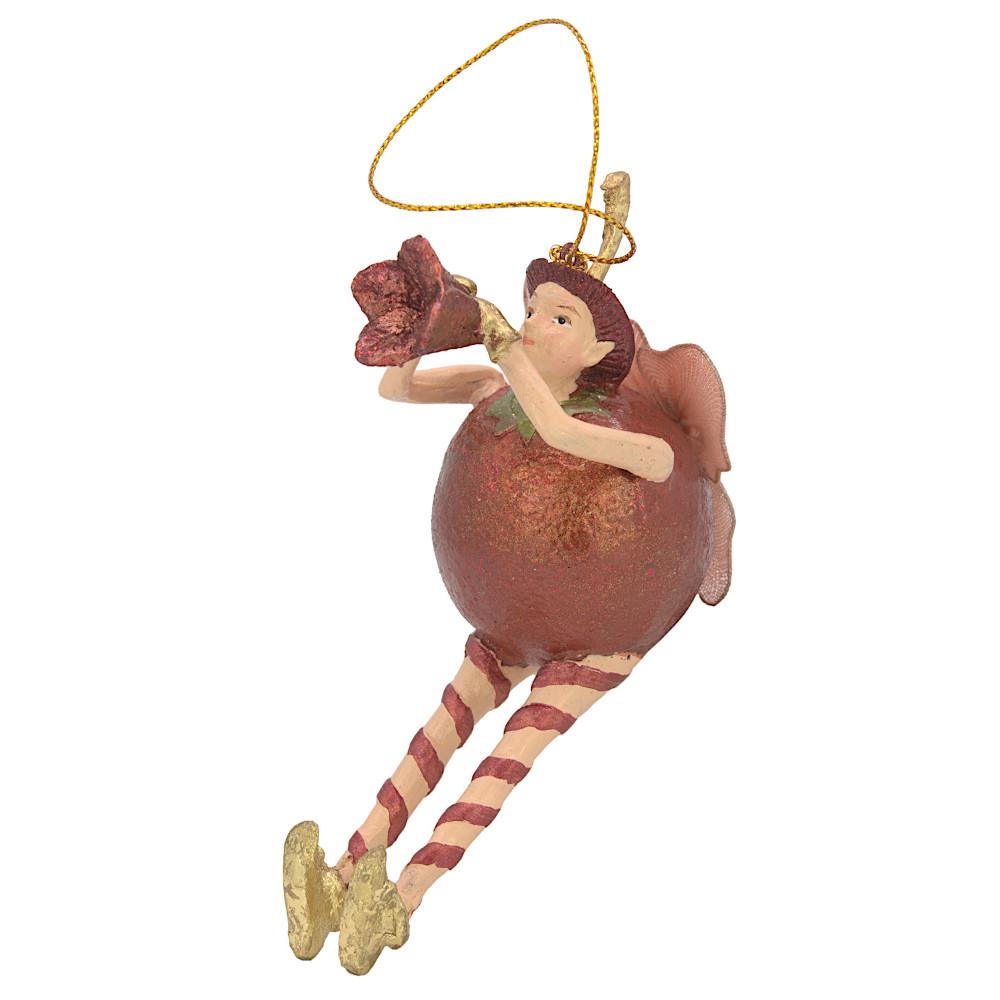 Christbaumschmuck Figur Obstelfe Orange Elfe Anhänger Baumschmuck 15cm
