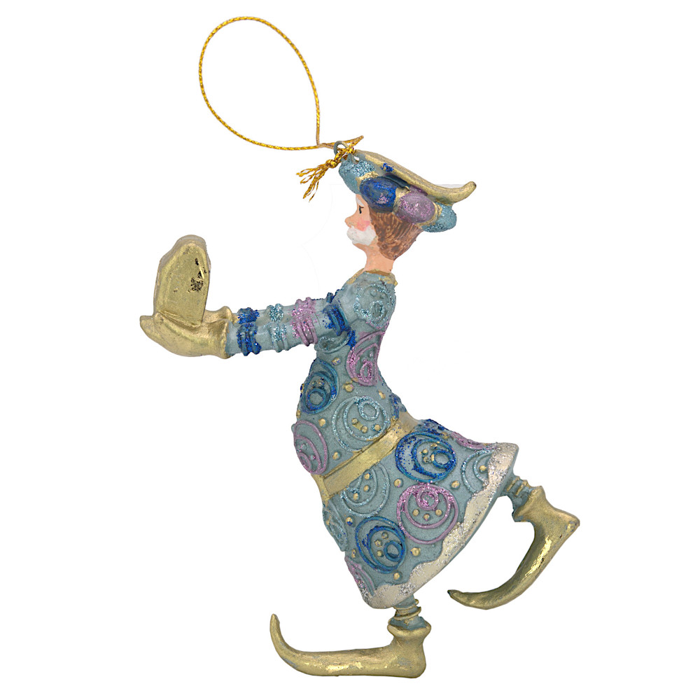 Christbaumschmuck Figur Wesir Geschenk Hänger Baumschmuck blau-gold 13 cm