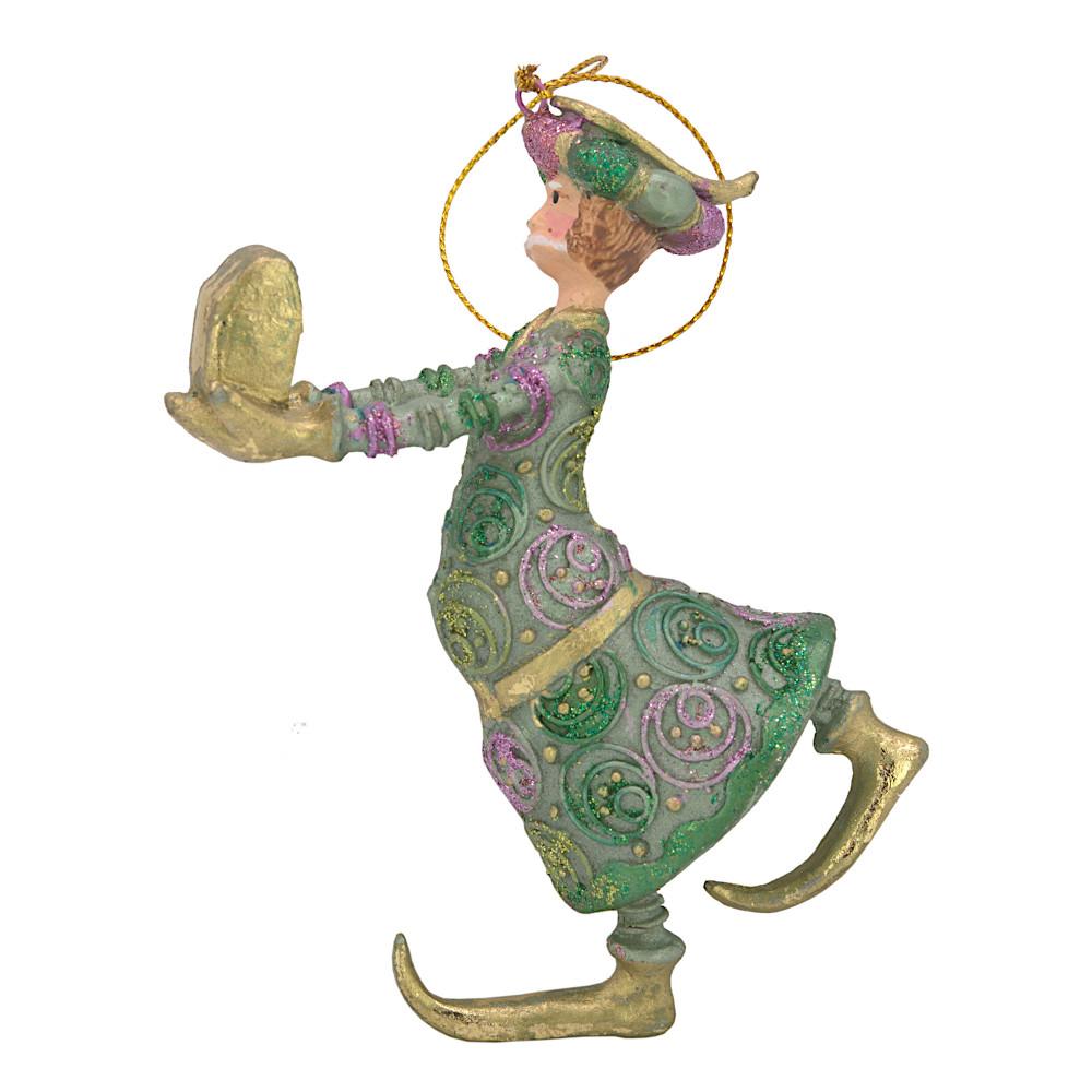 Christbaumschmuck Figur Wesir Geschenk Hänger Baumschmuck grün-gold 13 cm