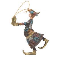 Christbaumschmuck Figur Wesir Geschenk Hänger Baumschmuck braun-gold 13 cm