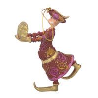 Christbaumschmuck Figur Wesir Geschenk Hänger Baumschmuck rot-pink 13 cm