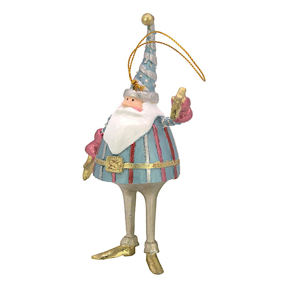 Christbaumschmuck Figur Weihnachtsmann mit Sternen Baumschmuck 16cm