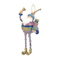 Christbaumschmuck Figur Weihnachtsmann mit Geschenken Baumschmuck 16cm