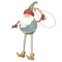 Christbaumschmuck Figur Weihnachtsmann mit Stab Baumschmuck 16cm