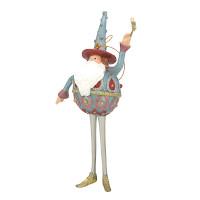 Christbaumschmuck Figur Weihnachtsmann mit Stern Baumschmuck 16cm