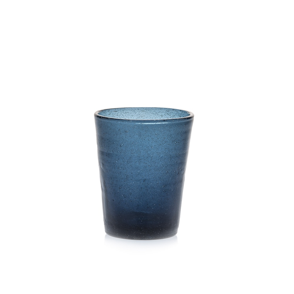 Wasserglas Trinkglas Saftglas Marco Polo Fairtrade Ecoglas 250ml blau