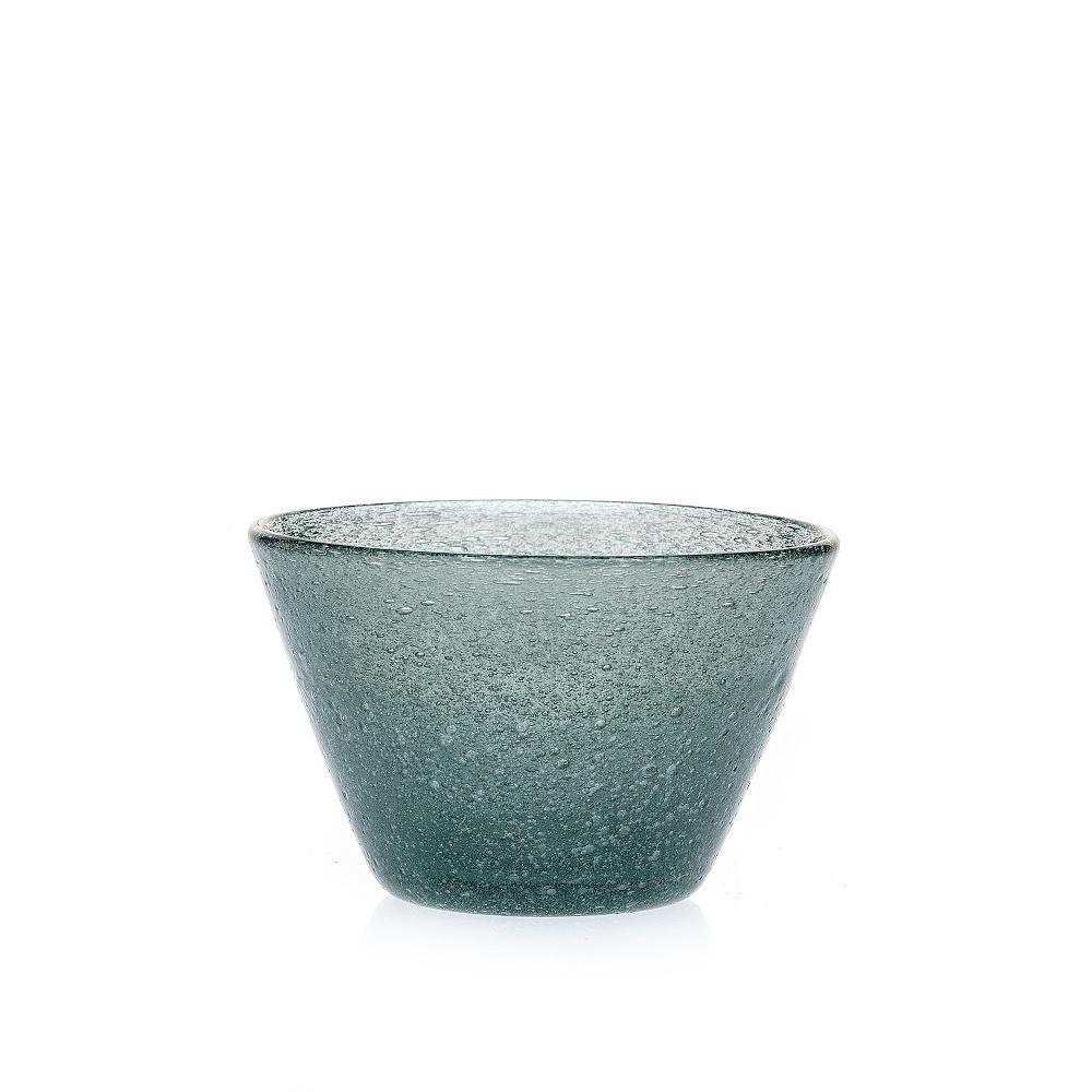 Glasschale Dessertschale Marco Polo Fairtrade Ecoglas grau iceblue