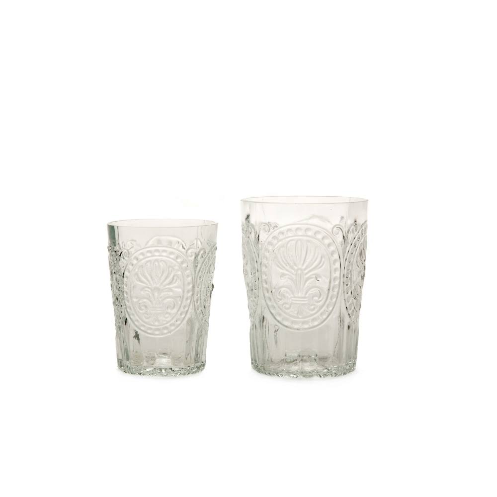 Wasserglas Trinkglas Fleur de LYS Recycled Fairtrade Ecoglas 300ml transparent
