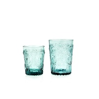 Wasserglas Trinkglas Fleur de LYS Recycled Fairtrade Ecoglas 200ml türkisblau
