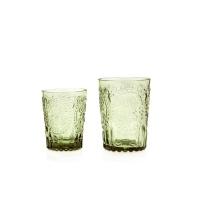 Wasserglas Trinkglas Saftglas Fleur de LYS Recycled Fairtrade Ecoglas 200ml grün