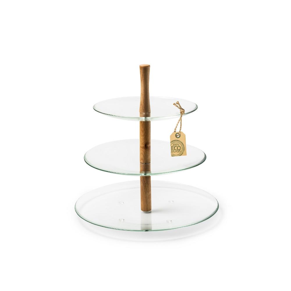 "Etagere Servierteller Glas ""Vera"" 3 Etagen 30 cm recycling Glas eco Glas"