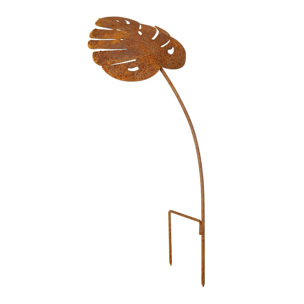 Blattstecker 30 cm Rost Deko Blatt Stecker Gartendeko Edelrost Beetstecker
