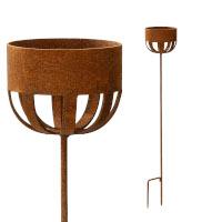 Kerzenhalter 102 cm Rost Deko Outdoor-Kerzen Gartendeko Stab Edelrost
