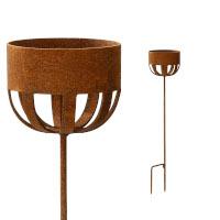 Kerzenhalter 82 cm Rost Deko Outdoor-Kerzen Gartendeko Stab Edelrost