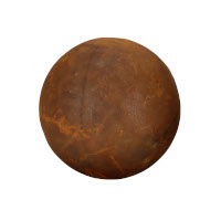 Gartendeko Kugel voll Metall Rost Deko Gartenkugel 30cm