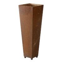 Pflanzgefäß groß Kübel quadratisch konisch Schale Metall Rost 75cm hoch