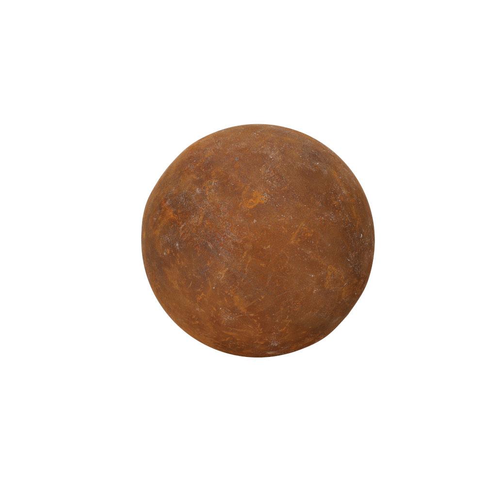 Gartendeko Kugel voll Metall Rost Deko Gartenkugel 20cm